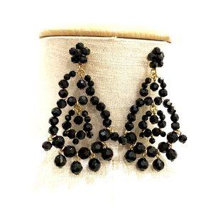 J. CREW black beaded statement earrings